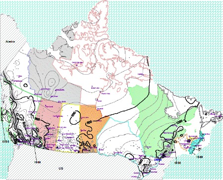 Canada Annual Average Precipitation