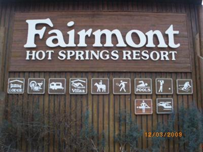 Fairmount Hot Springs Resort Sign