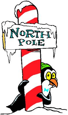A penguin at the North Pole?