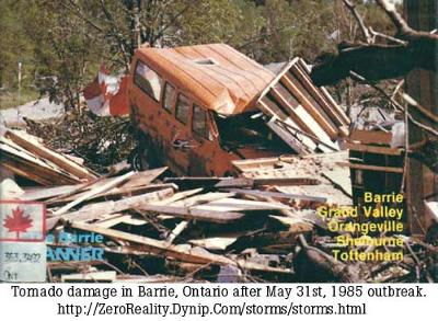 Barrie Ontario Tornado - May 31, 1985