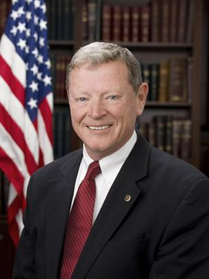 Jim Inhofe, American Politician against global warming nonsense.
