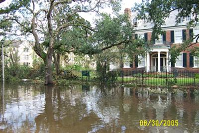 Hurricane Katrina Flooding at Tulane University Alumni House