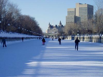 Famous Ottawa Winter Scene