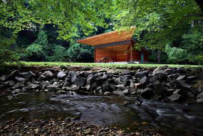 Meadow pavilion in Virginia Forest