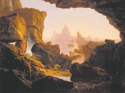 The Subsiding of the Waters by Thomas Cole <br>The Birth of a new Earth