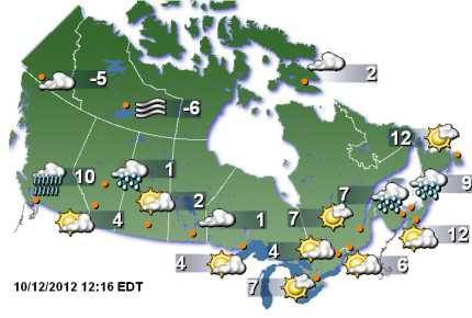 Weather Map For Canada Weather Network Canada | How does YOUR Forecast Look?