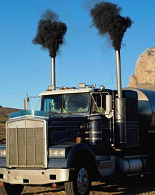 Black Diesel Exhaust