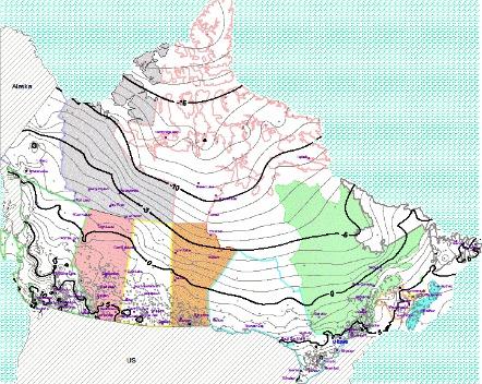 Canada Annual Average Temperature