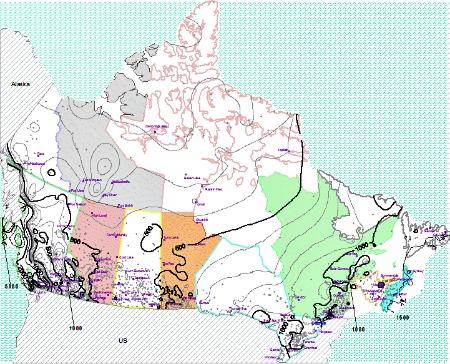 Canada Annual Average Precipitation