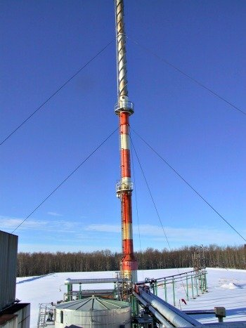 Flare Stack equipped with CEMS - Contiuous Emissions Monitoring System