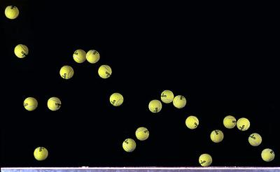 Typical bounce for a tennis ball