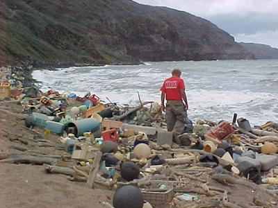 An example of marine garbage