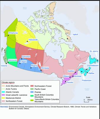 Another look at Canadian climate regions