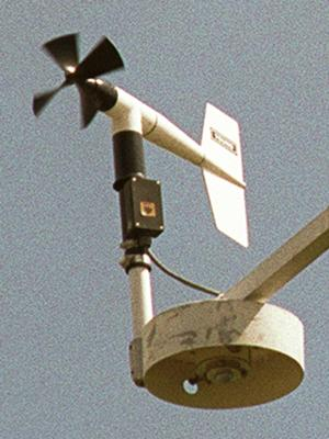 For measuring wind
